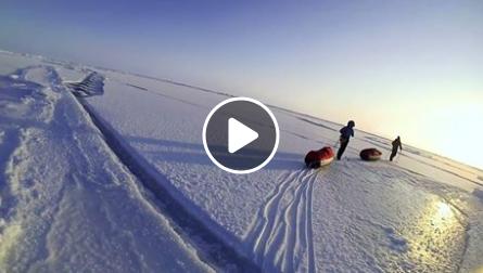 Dobytí severního pólu a setkání s ledním medvědem