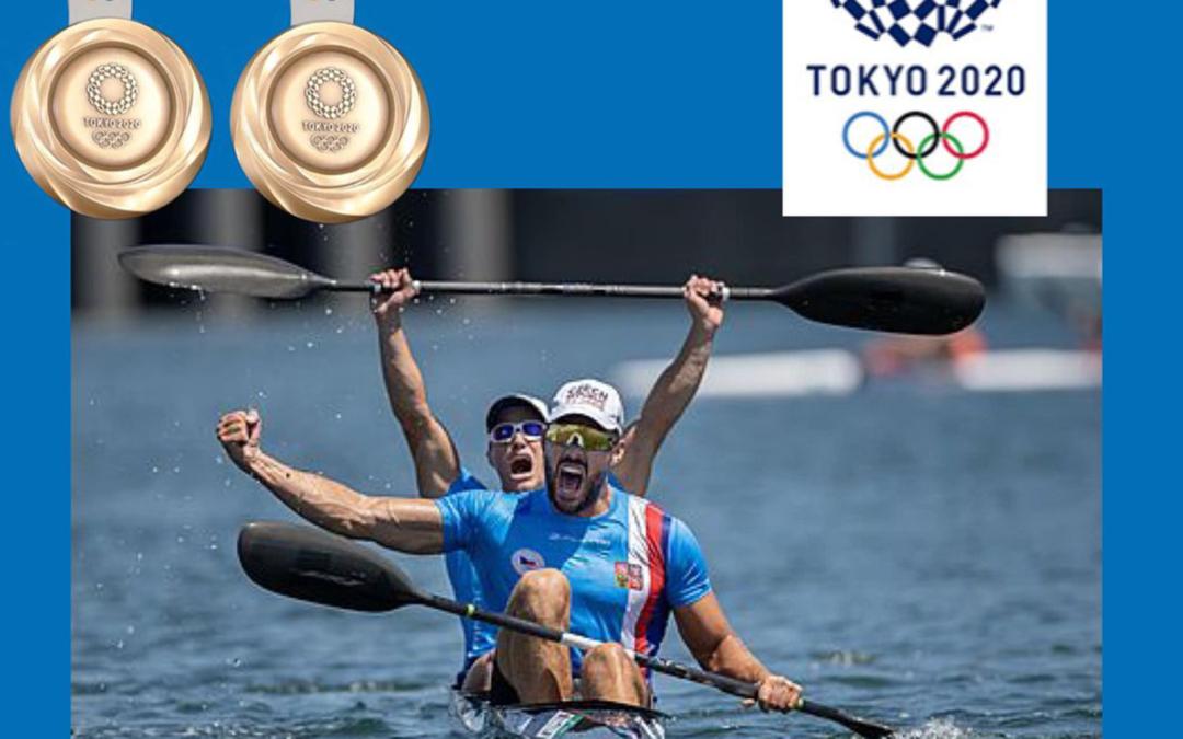 Josef Dostál s Radkem Šloufem získali bronz na deblkajaku v závodě na 1.000 metrů. Moc gratulujeme, krásná reprezentace.